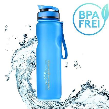Sunny Holiday Grandes hidrato Deportes Botella de Agua – (/1000ml – Respetuoso con el Medio Ambiente y BPA-Free plástico – para Running, Gimnasio, ...