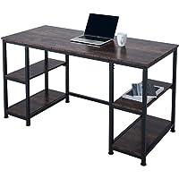 Vonluce 55 Inch Computer Desk with Adjustable 2 Tier Storage Shelves