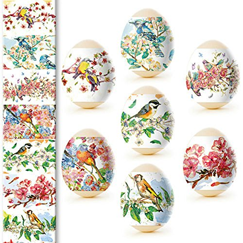 Ukrainian Easter Egg Wraps,Pysanka,Pysanky Egg Heat Shrink Sleeves,7 Hen Size#43