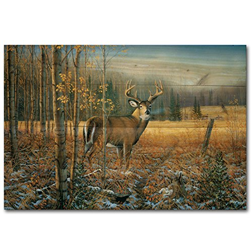 WGI-GALLERY 128 November Whitetail Deer Wooden Wall Art