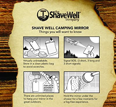 The Shave Well Company Unbreakable Camping Mirror - Backpack Approved