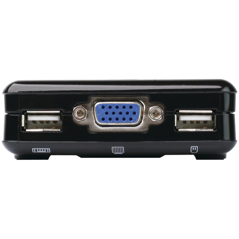 IOGEAR 2-Port Compact USB VGA KVM with Built-in Cables, GCS42UW6 by IOGEAR
