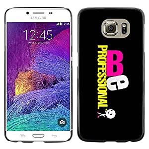 Paccase / SLIM PC / Aliminium Casa Carcasa Funda Case Cover para - Be Professional - Samsung Galaxy S6 SM-G920