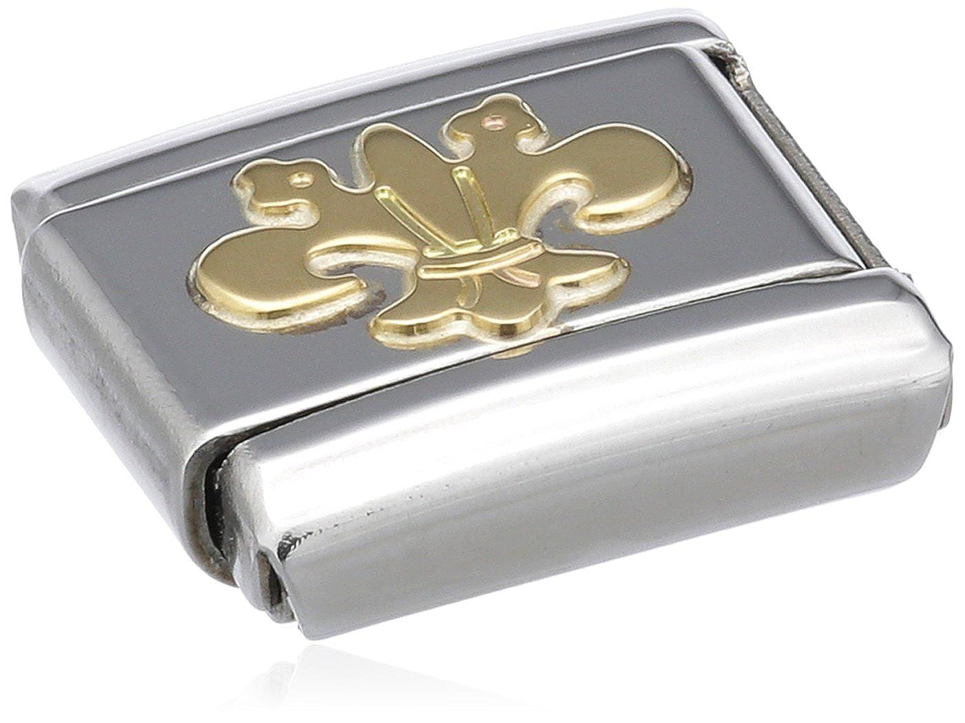 Nomination 030110 - Maillon pour bracelet composable Mixte - Acier inoxydable et Or jaune 18 cts