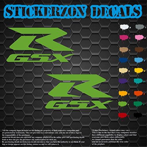 (GSX R Suzuki Gas Tank Bike Motorcycle Hayabusa Gsxr Gixxer Decals Sticker Graphics Labels Lime Green 6