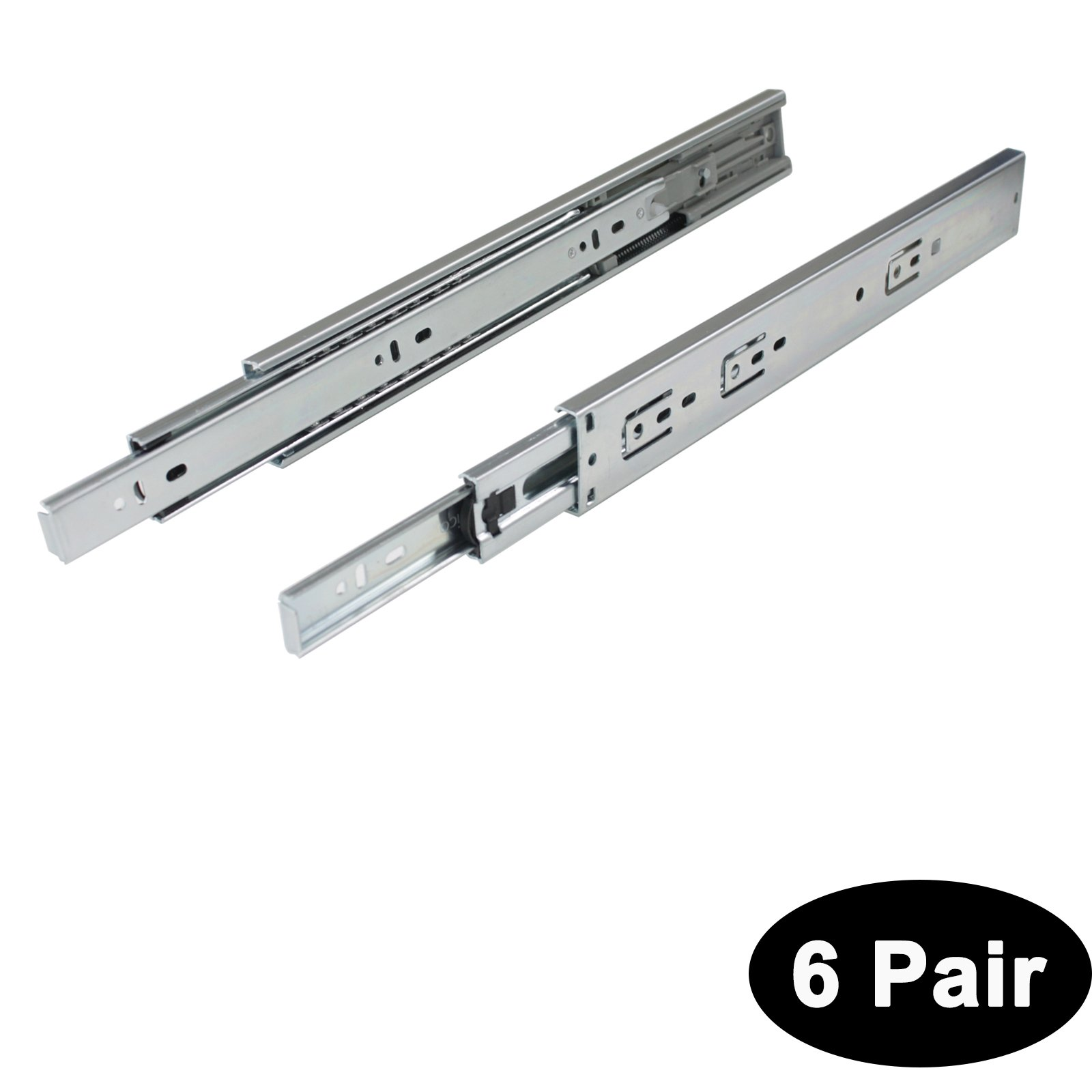 6 Pairs Probrico Furniture Hardware Soft/Self Close Slide Mount Drawer Slides Glides Full Extension 18 inch 3-Folds Ball Bearing 100-Pound Capacity;with Screws and Instructions