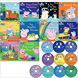 Peppa Pig Book and CD Collection - 10 Books & Cds: Amazon co