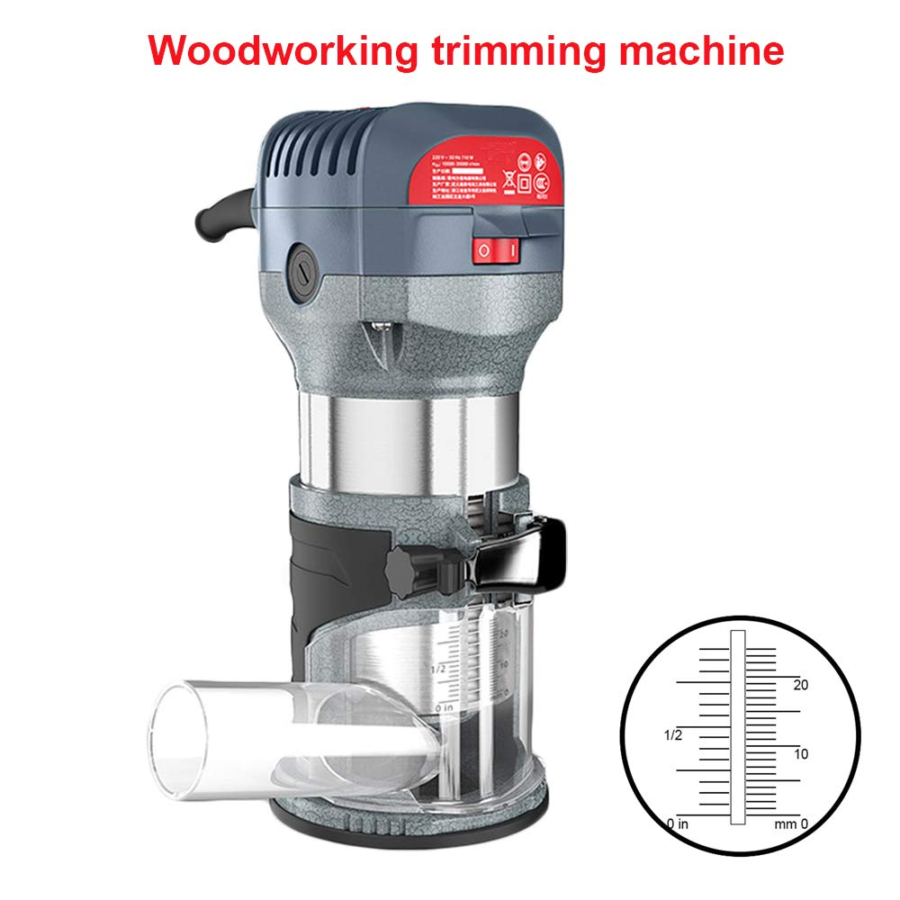 Compact Router Kit 220V 50Hz Woodworking Electric Trimming set Wood Clean Cuts Power Tool 30000RPM 600W (Router Kit) by FASTTOBUY (Image #1)
