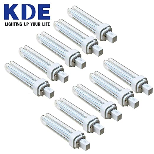 Pack 10 Bombillas LED - KDE LED 911336 Bombilla LED 2U G24D-2 12W=