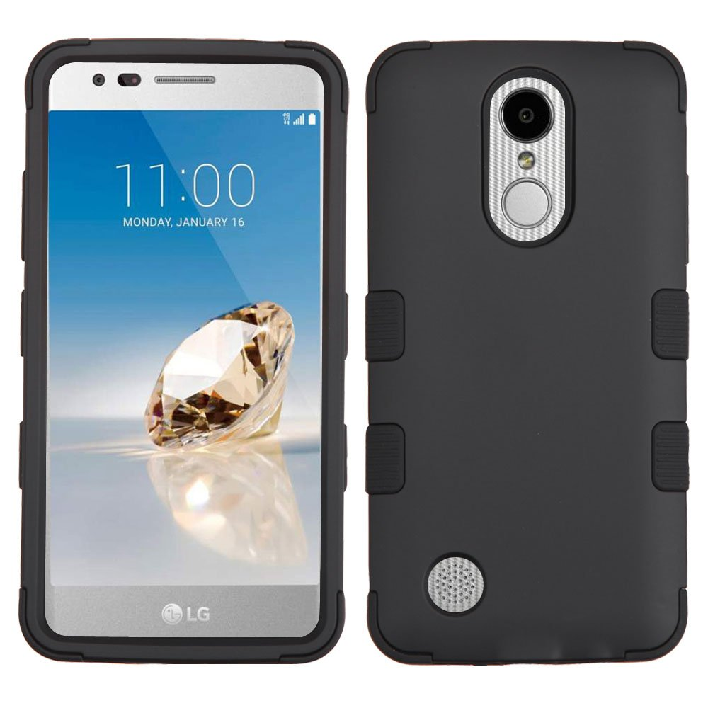 LG Aristo / LV3 / K8 (2017) / Rebel 2 L57BL L58VL Case, Kaleidio [TUFF]  Rugged Heavy Duty [Shock/Impact Protection] Dual Layer Hybrid Rubber Cover  w/