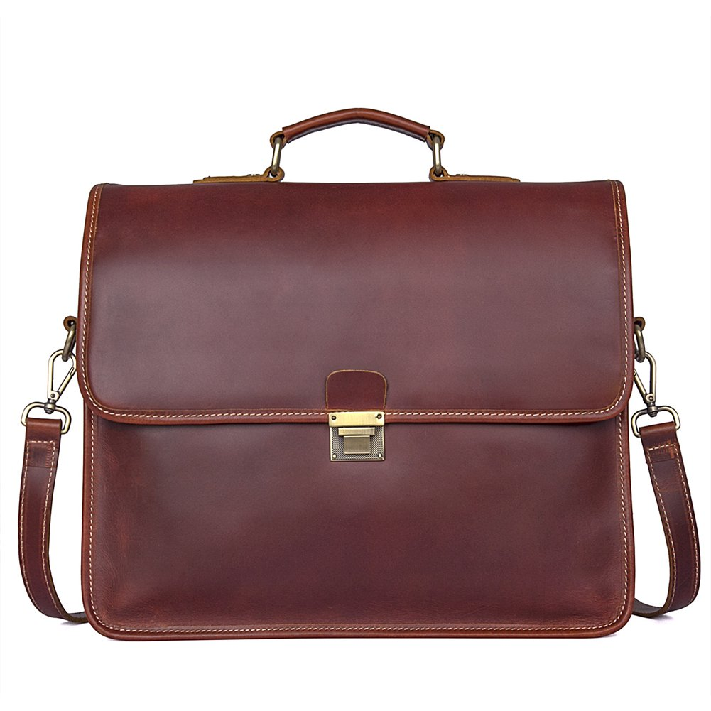 Genda 2Archer Men Genuine Leather Briefcase 15-inch Laptop Tote Bag by Genda 2Archer (Image #1)