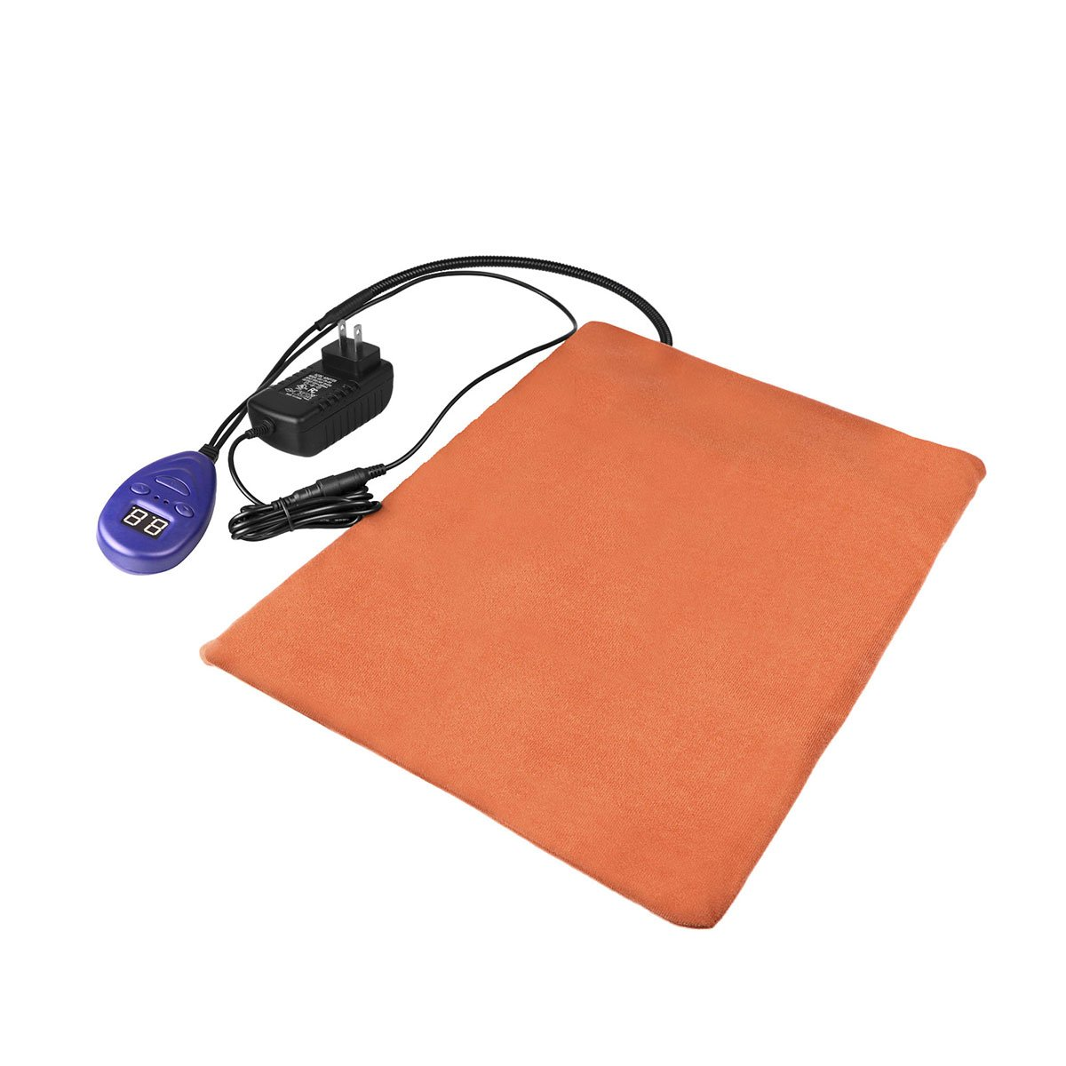 Powstro Pets Heating Pad Electric Warming Mat Chew Resistant/7 Grade Temp/Overheat Protection for Dogs Cats Beds Soft Removable Cover