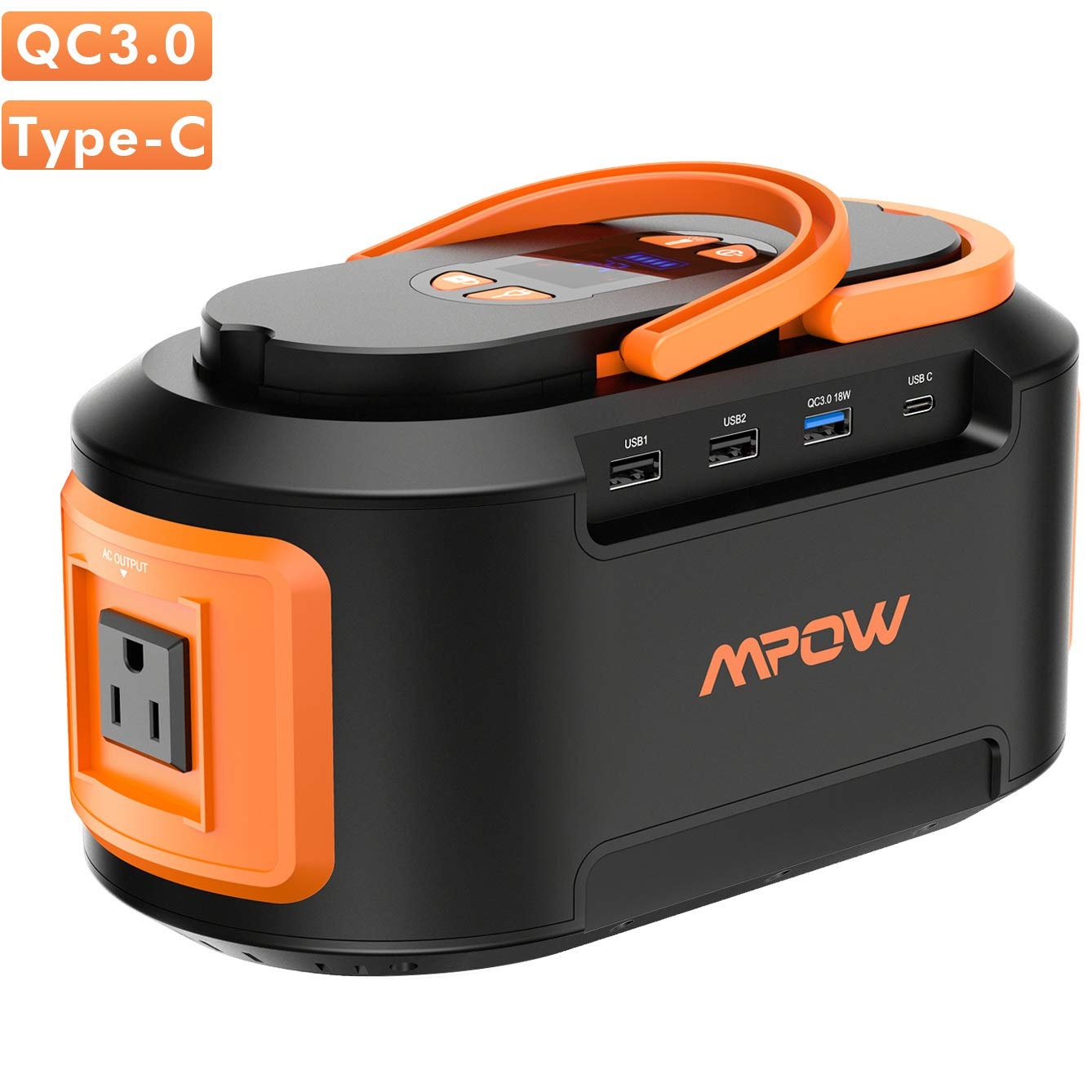 OMORC Mpow 222Wh 60000mAh Portable Power Stations, 4 USB (Quick Charger 3.0 & Type C), 4 DC Ports, 300V(Peak) AC Outlets,LED Lights,Solar Inverter Generators Battery Backup for CPAP Camping Fishing