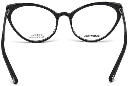 Dsquared2 - DQ 5221, Cat eye, iniettato, donna, SHINY BLACK(001), 54/17/140