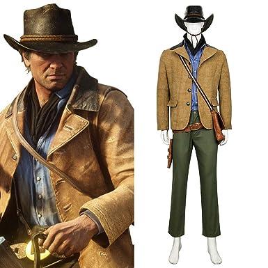 2d1d184d8e9 Spiel Red Dead Redemption 2 Arthur Morgan Cosplay Outfit Kostüm Halloween  Karneval Cosplay Kostüme nach Maß