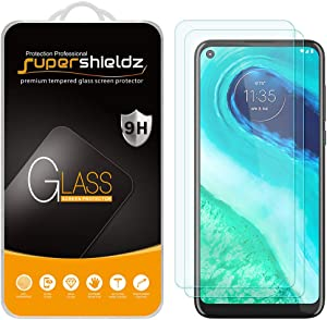 (2 Pack) Supershieldz for Motorola Moto G Fast Tempered Glass Screen Protector, Anti Scratch, Bubble Free