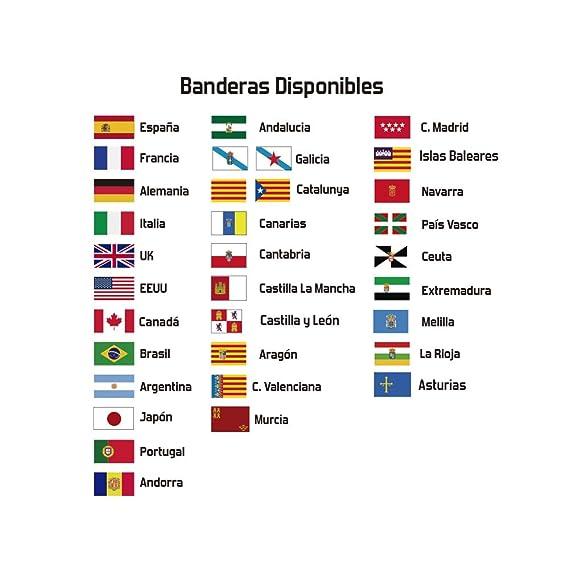 Haberdashery Online Kit 9 Adhesivos con Bandera, Texto y Color ...
