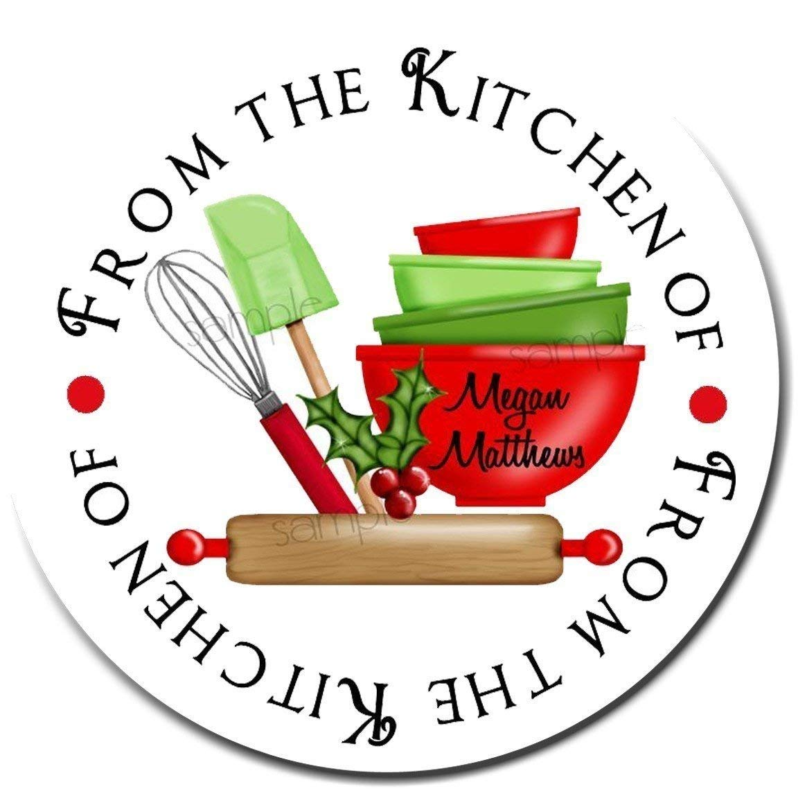 Amazon com personalized christmas stickers baking labels rolling