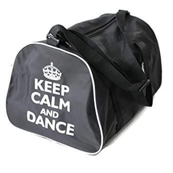 dfd3fb91d5a8d KEEP CALM AND DANCE Holdall Bag for dancer in Pink, Red, Black or Blue