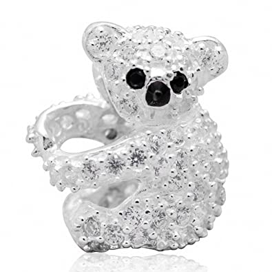 [Sponsored]Koala Charm Bead - White Crystals Sterling Silver - Gift boxed aUNISka