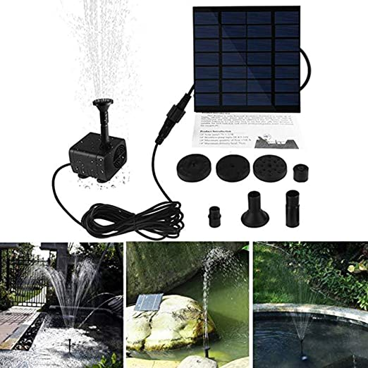 pittospwer Solar Powered Mini Fuente jardín Brushless Bomba para Agua Chorro pulverizador Pool Decor: Amazon.es: Jardín