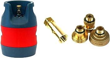 Drehmeister - Botella de Gas, depósito de Composite (plástico ...