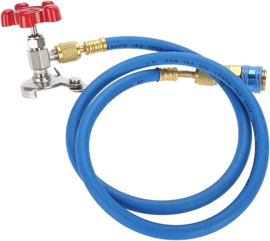 R134 Air conditioning Refrigerant Recharge Hose Gas Can Fitting Pipe Can Tap for R502 R-12 R-22 Refrigerant.