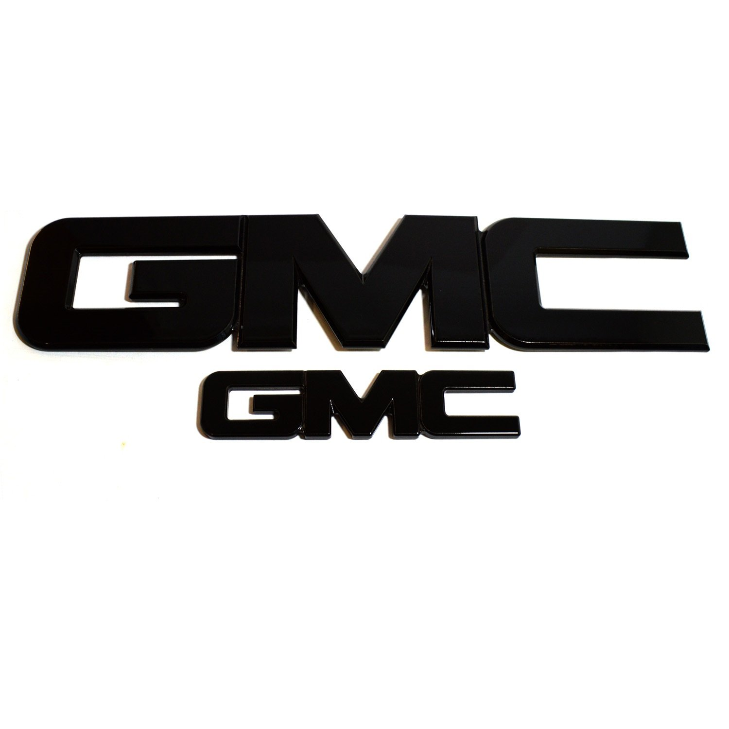 All Sales 96511K AmiGMC Grille and Tailgate Emblem Pack of 2 Black