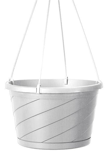Akro Mils HSO12004A10 Euro Swirl Hanging Basket, White, 12 Inch