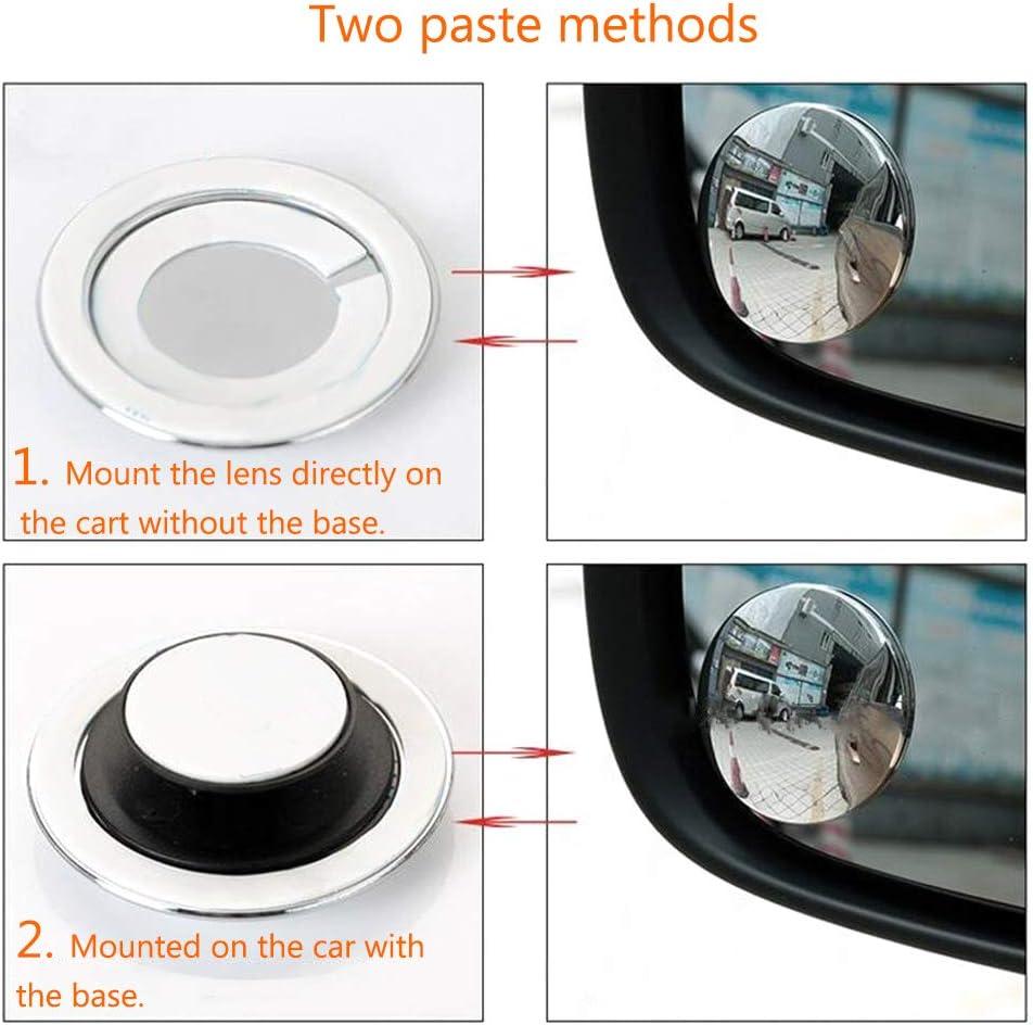 3 Mt Band Kleine Runde f/ür Auto Fahrzeug Seite Blindspot Blind Spot Konvexen Spiegel 2 Teile//Satz Auto R/ückspiegel 360 Weitwinkel