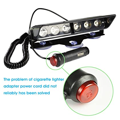 ... Emergency Red Lights, 6W 6 LED Strobe Flashing Dash Deck Warning  Lighting For Volunteer Firefighter ...