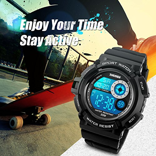 Aposon-Mens-Digital-Sports-Watch-Military-Army-Electronic-Watches-Running-50M-5-ATM-Waterproof-Sports-LED-7-colour-Wristwatch-Water-Resistant-with-Stopwatch