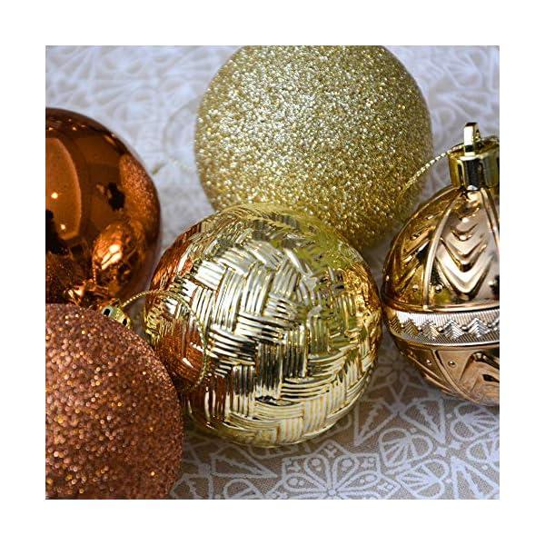 Valery Madelyn Palle di Natale 50 Pezzi 6 cm Palline di Natale, Rame Essenziale e Oro, Ornamenti di Palla di Natale Infrangibili di Base per la Decorazione Dell'Albero di Natale 6 spesavip