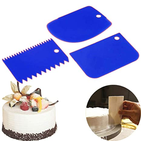 Buy SENECIO 3Pc Set Blue Dough Cutter Chocolate Bark Maker Baking Scrapping DIY Tools Online At Low Prices In India