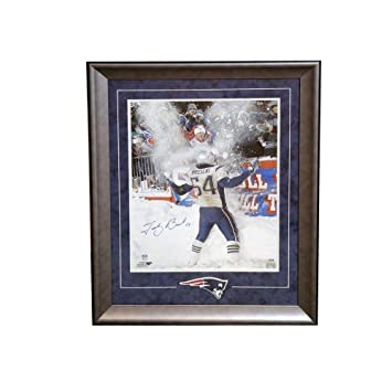 Tedy Bruschi Signed Photograph - 16x20 Framed - Autographed NFL ...