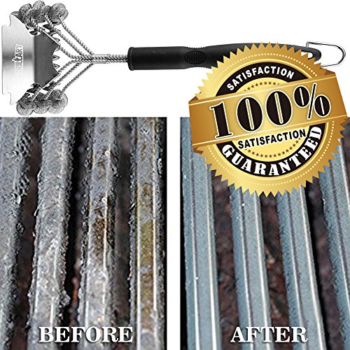 "Weetiee Grill Brush and Scraper Bristle Free - Safe Barbecue Grill Brush – 18"" Best Stainless Steel BBQ Accessories Cleaner for All Grill Grates BBQ Grill Brush for Grill Wizard by Weetiee (Image #6)'"