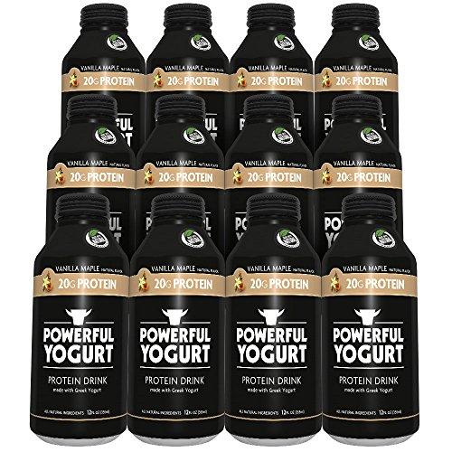 Powerful Yogurt Protein Drink, Greek Yogurt Vanilla Maple, 12 Count