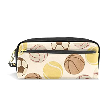 11772718042f Amazon.com   Women Ball Games Pattern Cosmetic Bags Small Makeup Clutch Pouch  Cosmetic and Pencil case Organizer Bag   Beauty