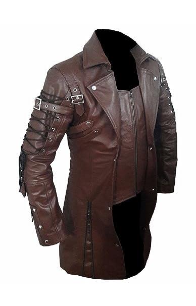innovative design 243a1 b5669 Mens Goth Matrix Trench Coat Steampunk Gothic