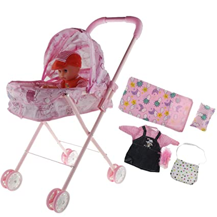 Reliable Doll Stroller Baby Stroller Trolley Nursery Furniture Toys Doll Trolley Toy Simulated Stroller For Indoor Outdoor Use Mother & Kids Activity & Gear