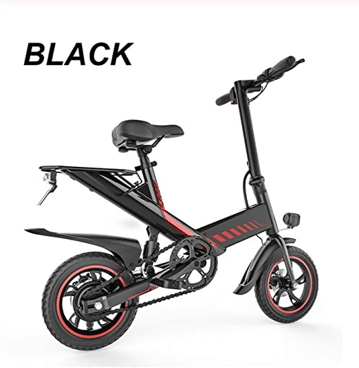 WXJWPZ Bicicleta Eléctrica Plegable 48V 7.5Ah Smart E Bike 400W Suspensión Trasera Freno De Disco Plegable E Bicicleta Mini Bicicleta Eléctrica Plegable,Black: Amazon.es: Hogar