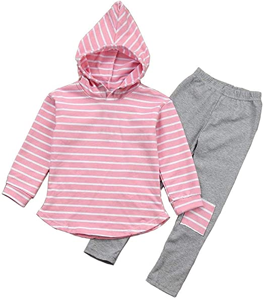 Children Kids Girls Boy Clothes Outfits Hoodie Velvet Tops Pants Tracksuit Set