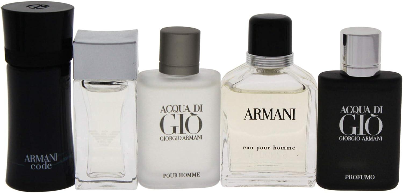 70 Value) Giorgio Armani Mini Cologne Gift Set for Men, 5