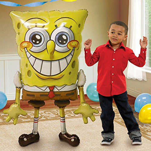 Nickelodeon Sponge Bob Square Pants Birthday Party Balloon 46 Inches Foil Balloon Air Walker by Nicks