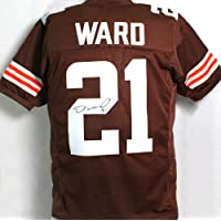 $105 » Denzel Ward Autographed Brown Pro Style Jersey - JSA W Auth 2