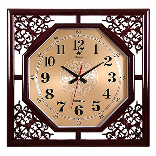 Wall Clock Square And Octagon Clock Living Room Bedroom Family 18 Inch Silenced Vintage Wall Clock (Color : C1) - Clock Octagon