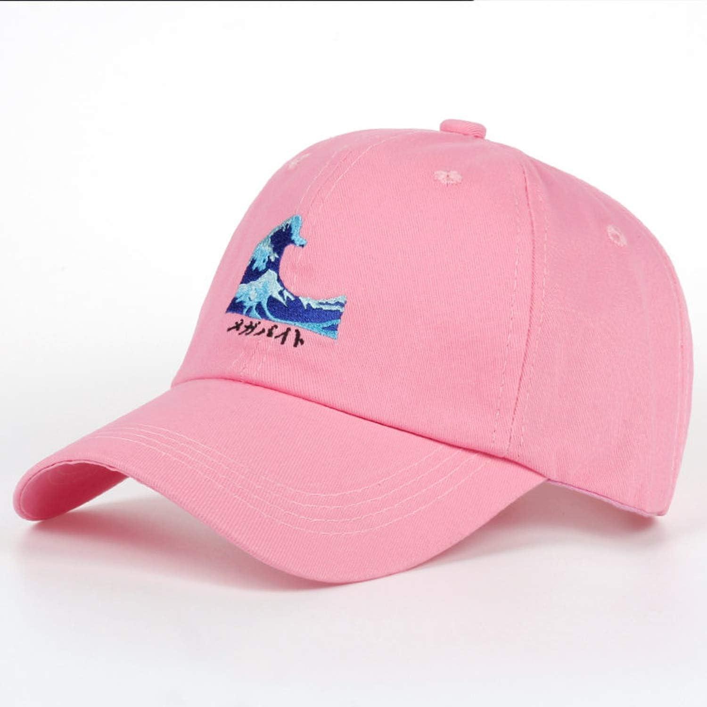 Harajuku Wave Embroidery Snapback Baseball Cap Casual Curved Eaves Hat Breathable Sunscreen Hats