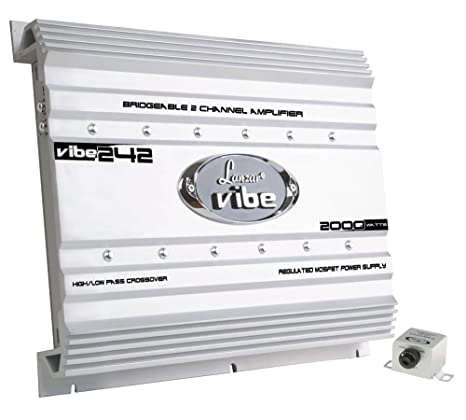 Lanzar - Amplificador MOSFET (2000 W, 2 CANALES), color plateado