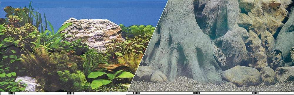 Blue Ribbon Pet Products ABLVSB1219 White Decorative Rock Background for Aquarium, 19-Inch 50-Feet