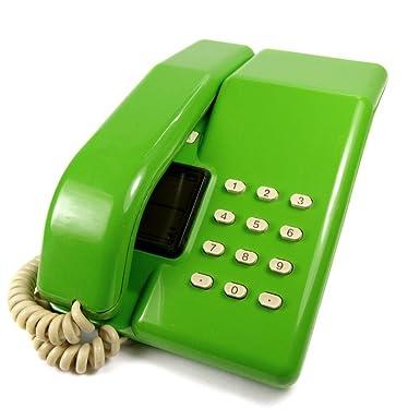 c7eb58c70 Viscount - Vintage 1980 s Push Button BT Retro Telephone in Green   Amazon.co.uk  Electronics